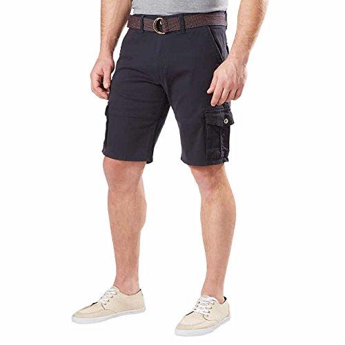 Weatherproof Vintage Mens Comfort Stretch Utility Cargo Shorts Adjustable Belt (36, Blue)