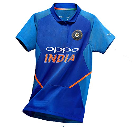 Crazy Prints Dri Fit Indian Cricket Jersey 2019 for Cricket Fans (Medium)