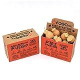 FOGOMX - Iniciador de Fuego ecológico 100% Natural para encender carbón, Prender leña, Prender fogata, Prender asador y chimeneas. Caja con 16 Piezas.