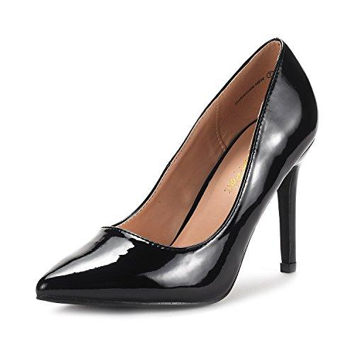 Pat Heel High (DREAM PAIRS Women's Christian-New Black Pat High Heel Pump Shoes - 11 M US)