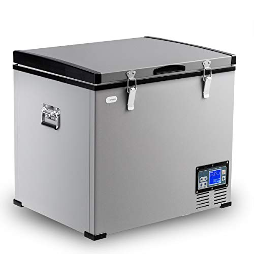 Costway Portable Compressor Refrigerator Freezer Compact Vehicle Car Cooler Mini Fridge For Car and Home, Camping, Truck Party, Travel, Picnic Outdoor -0.4°F to 50°F(-18℃ to 10℃) (63 Quart)