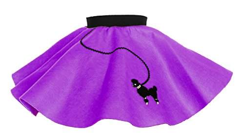 Hip Hop 50s Shop Baby and Toddler Poodle Skirt (Purple, Toddler) (50s Poodle Dress)