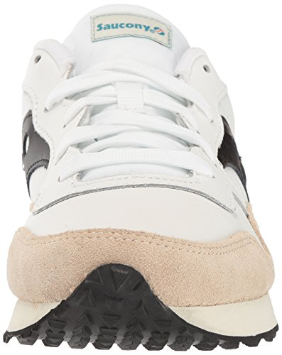 Saucony Originals Mens Dxn Trainer Cl Essentiële Sneaker Wit / Zwart