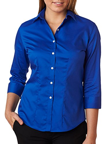 Van Heusen - Women's Three-Quarter Sleeve Baby Twill Shirt - 13V0527