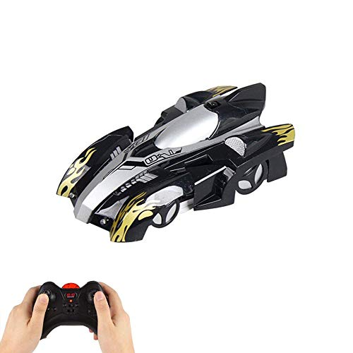 Layopo Wall Climbing Remote Control Car, Rechargeable Dual Mode 360° Rotation Stunt RC Cars LED Head Gravity Defying Vehicles for Kids Boy Girl Teenagers Adults Birthday - Laptop Cars