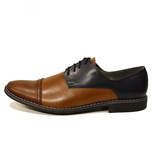 Modello Zaccheo - Handmade Colorful italiennes Chaussures en cuir Oxfords Casual Souliers de Formal Prime Unique Vintage Gift Lace Up Robe Hommes