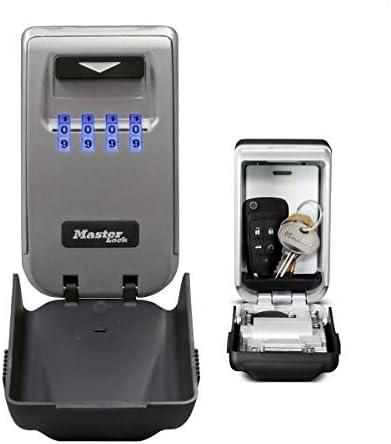 MASTER LOCK Schlüsseltresor mit beleuchteten Zahlenrädern [Medium] [Wetterfest] – 5425EURD – Schlüsselsafe