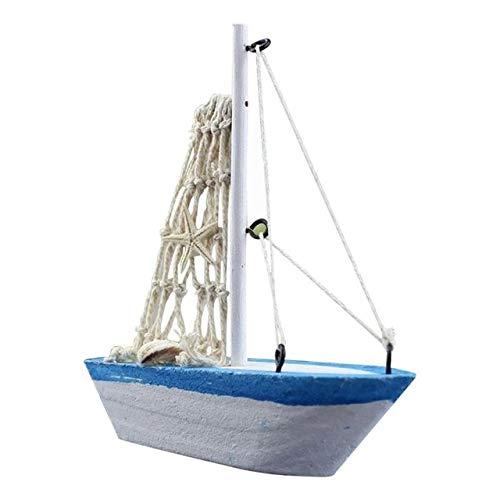 Ochoos ミニセーリングボートモデル ヴォーグ 航海 ホームデコレーション 布 ヨット モデル フラッグ テーブル オーナメント 木製 クラフト おもちゃ 子供用 ギフト 3 ブルー OCH-37FCDA48D59639E03A13B614444BA0FF  スカイブルー B07NSCFHDK