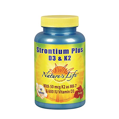 (Nature's Life Strontium Plus D/K Supplement, 60 Count)