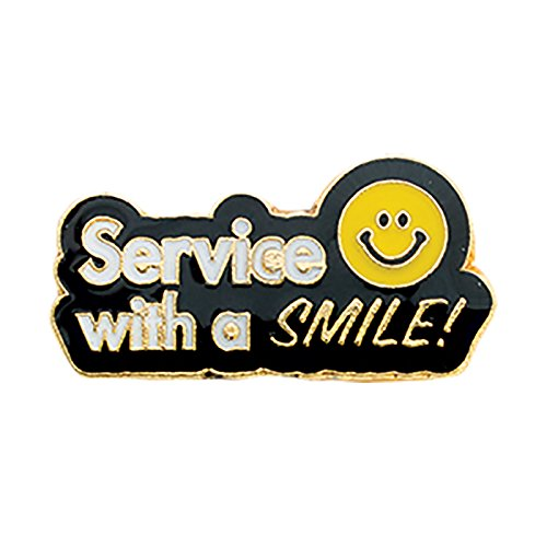 Smile Lapel Pin - Set of 50 Lapel Pins - Service with a Smile
