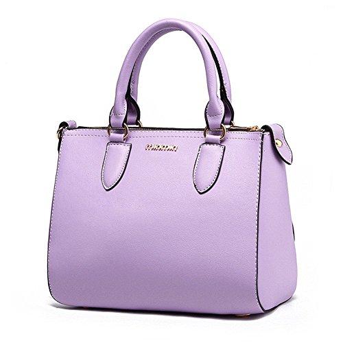qckj Mode Cross Body Schulter Tasche Frauen Pu Buchstaben Handtasche Violett