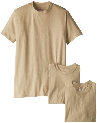 - Soffe Men's Soft Spun Cotton Military 3 Pack T-Shirts, Sand, Large