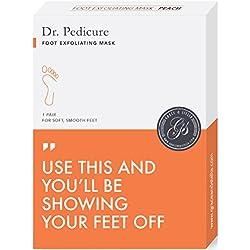 BEST Dr. Pedicure Foot Exfoliation Peeling Mask   For Smooth Baby Soft Feet, Dry Dead Skin Natural Treatment, Repair Rough Heels, Callus Remover, Soak Socks Booties, Get Gentle Feet, Peach (1 Pair)