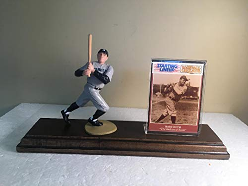 Babe Ruth New York Yankees Starting Lineup Figure Mounted Custom Made Wood Plaque ()