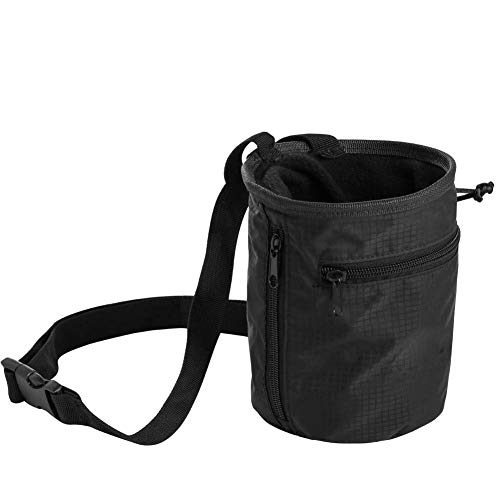 (EzGoo Climbing Chalk Bag with Carabiner Belt and Zippered Pocket for Climbing, Gymnastics, Weight Lifting & Bouldering)