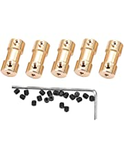, 5pcs Motor Copper Shaft Coupling Coupler Connector Sleeve Transfer Joint Adapter Screw (3mm to 4mm)
