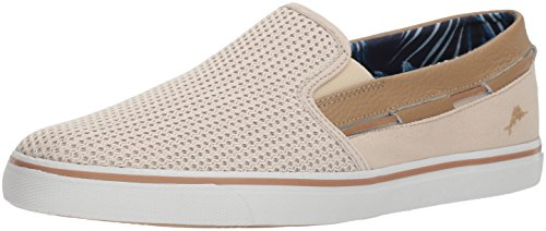 Cream Tommy Bahama - Tommy Bahama Men's Exodus Loafer, Cream, 11 D US