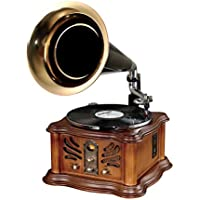 Pyle PUNP33BT Vintage Retro Classic Style Bluetooth Turntable Phonograph Speaker Sound System