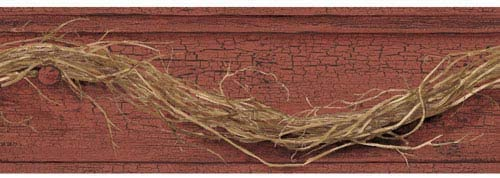 York Wallcoverings ac4350bd国Keepsakes Grapevine Twig Border壁紙、ダークレッド、ブラウン、ブラック