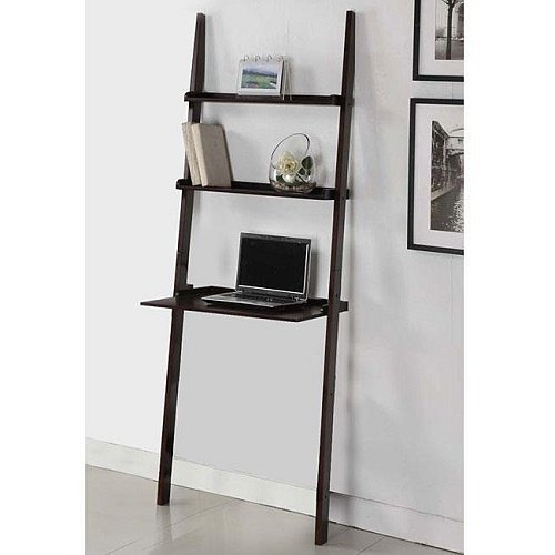 Home Cappuccino 3-tier Leaning Ladder Shelf