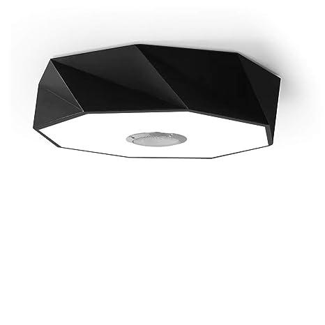 HOREVO 24W Ø42cm Geometría nórdica moderna Lámpara empotrada en el techo LED con mando a distancia +APP, Altavoz Bluetooth incorporado, Sala de estar ...