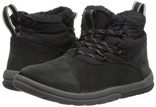 Timberland Unisex Toddle Tracks Warm Fabric Leather Bootie Snow Boot Black Nubuck 12 M US Little Kid by Timberland (Image #6)