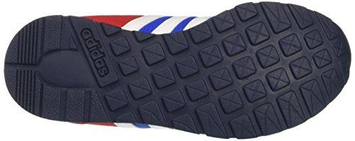 adidas V Jog K, Zapatillas de Deporte Unisex Bebé Azul / Blanco / Negro (Azul / Ftwbla / Maruni)