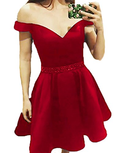 4 BD448 Short Dresses The Homecoming BessDress Red Off Lace Prom Shoulder Dresses Style pZAwnTFq