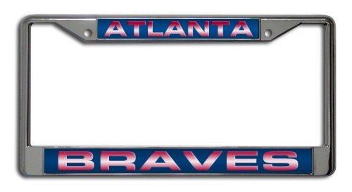 - B.Fighting Atlanta Braves MLB Laser-Cut Chrome License Plate Frame