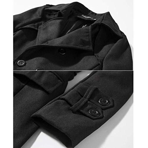 Lungo Lungo Uomo da Cappotto Cappotto da da da Moderna HaiDean in Schwarz Cappotto Uomo Trench Cappotto Uomo Sottile Casual Caldo Caldo 1Xq6Exxnw