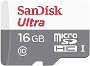 Cartão de Memória SanDisk 16GB Micro SD Classe 10 Vel. Até 80MB/s a Prova de Água p/ Smartphone SDSQUNS-016G-GN3MA