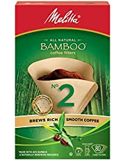 Melitta 625100 Bamboo Coffee Filters, Bamboo No 2, 80-Count Boxes, Green