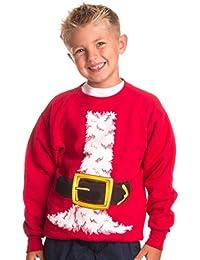 Kid's Santa Claus Costume | Novelty Christmas Sweater, Holiday Child Sweatshirt
