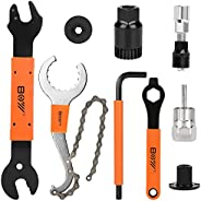 Bike Tool Kit, Including Bicycle Crank Removal Tool, 3 in 1 Bike Cassette Removal Tool, Bottom Bracket Remover