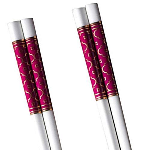 - LeBlue 2 Pairs Lucky Red Bone China Chinese Reusable Dishwasher Safe Chopsticks GIFT SET