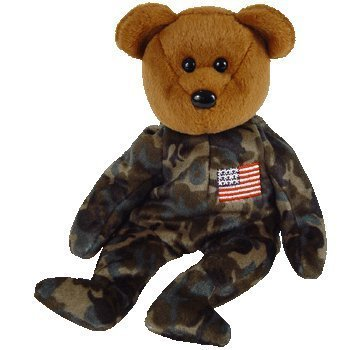TY Beanie Baby - HERO the USO Military Bear (w/ US Flag on Chest) by Ty [Toy]]()