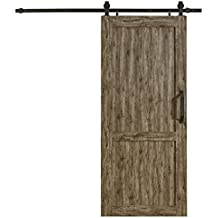 "LTL Home Products MLB4284WGHKD Millbrooke Pvc Barn Door Kit, 42"" x 84"", Weathered Grey"