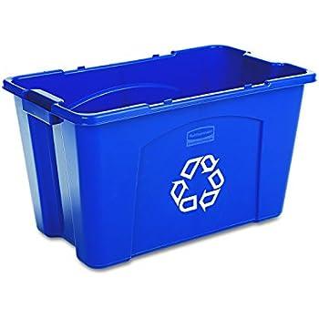 Amazon Com Qty 4 Low Profile Blue Deskside Recycling