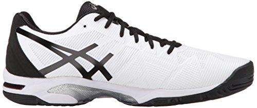 Zapato de tenis Speed-Gel Speed 3 masculino, Blanco / Negro / Plateado, 6 M US