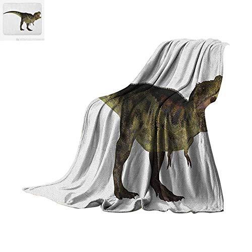 Dinosaur Warm Microfiber All Season Blanket Tyrannosaurus Dinosaur Illustration Prehistoric Nature Wildlife Reptilian Summer Quilt Comforter 62