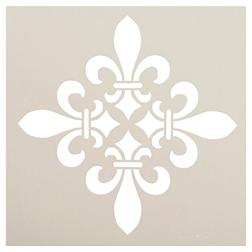 Fleur De Lis Diamond Stencil by StudioR12 | Versailles French Art - Reusable Mylar Template | Painting, Chalk, Mixed Media | Use for Journaling, DIY Home Decor - STCL1220 (12