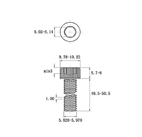 Allen Socket Drive AISI 304 Stainless Steel Machine Thread Bright Finish Full Thread 18-8 Fullerkreg M6-1.0 x 12MM Socket Head Cap Screws Din 912 Quantity 20
