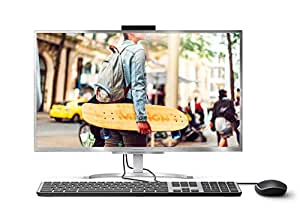 """Medion Akoya E23401 - Ordenador All-in-One 23,8"""" FullHD (Intel Core i5-8250U, 8GB RAM, 128GB SSD, Windows 10) Gris - Teclado QWERTY español + Ratón USB"""