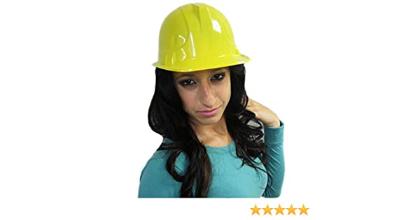 Yellow Construction Hat For Adults 12 Plastic Hard Hats By Funny