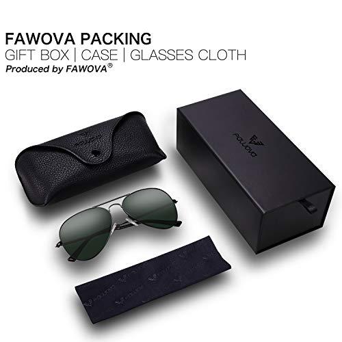 4b1ee6ef0d3 fawova Gafas de Sol Aviador Hombre