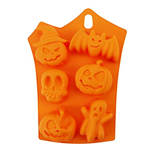 AQIMY Silicone Cupcake Liner Halloween Limited Edition Reusable Chocolates Candy Molds Pastry Baking Mold -