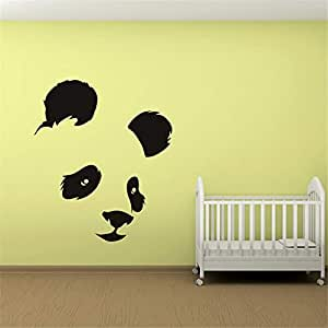 Panda Head Etiqueta de La Pared Habitación del Bebé Tatuajes ...