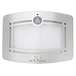 Leadleds Battery Operated Motion Sensing Wall Light with 2 Light Modes, Night Light Auto ON/OFF for Home, Kitchen, Stairs, Hallway, Closet, Bathroom, Garden