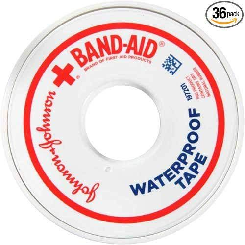 Johnson and Johnson Band-Aid 0.5 in. Heavy-Duty Waterproof Tape 10 yd. Roll - 36 per case. by Johnson and Johnson