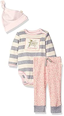 Burt's Bees Baby Unisex Organic Long Sleeve Snap Shoulder Bodysuit with Pant and Hat by Burt's Bees Children's Apparel that we recomend individually.